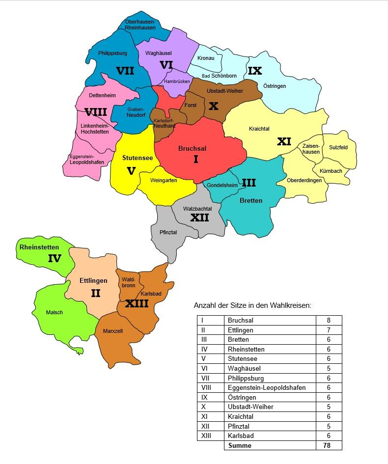 Einteilung der Wahlkreise 2014